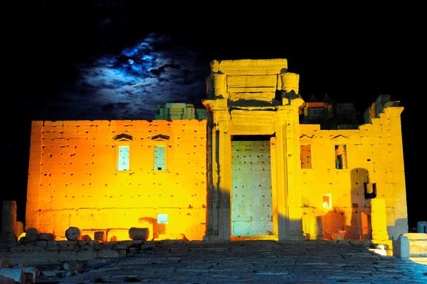 The Temple of Bel is illuminated in the historical city of Palmyra October 22, 2010. Islamic State fighters in Syria have entered the ancient ruins of Palmyra after taking complete control of the central city, but there are no reports so far of any destruction of antiquities, a group monitoring the war said on May 21, 2015. REUTERS/Omar Sanadiki