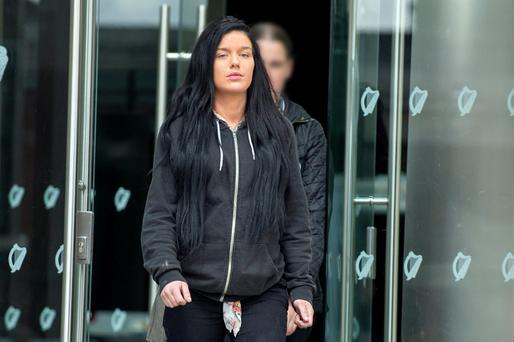 Witness Charlene O'Connor leaving Dublin Circuit Criminal Court, Thursday Pic: Court Collins.