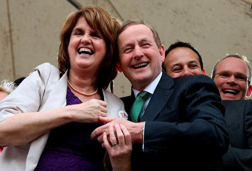 An Taoiseach Enda Kenny and Tanaiste Joan Burton