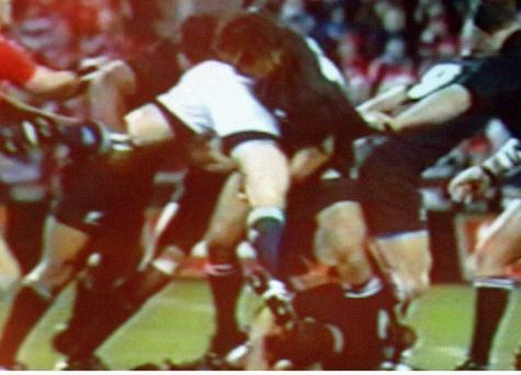All Blacks' Keven Mealamu and Tana Umaga spear tackled the Lions captain Brian O'Driscoll causing a shoulder dislocation during the 2005 Lions Tour
