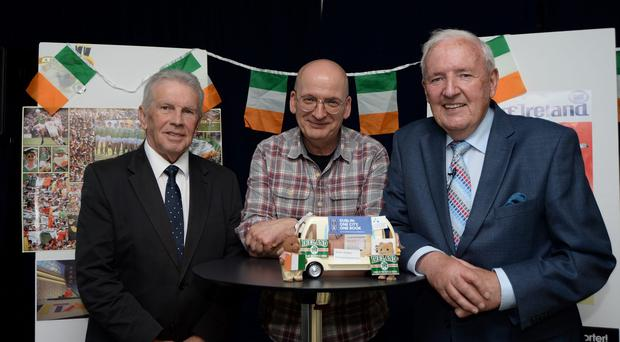 John Giles, the late Bill O'Herlihy and Roddy Doyle