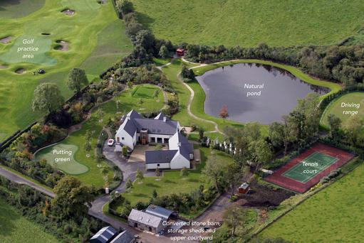 Robinhall House in Moneyreagh, Co Down, has its own golf course, lake, tennis court and cinema. The 14-acre property was previously owned by golfer Rory McIlroy