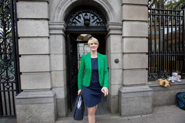 Senator Averil Power who has resigned from the Fianna Fail party