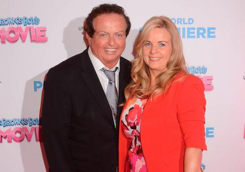 Marty Morrissey and long-term partner Liz