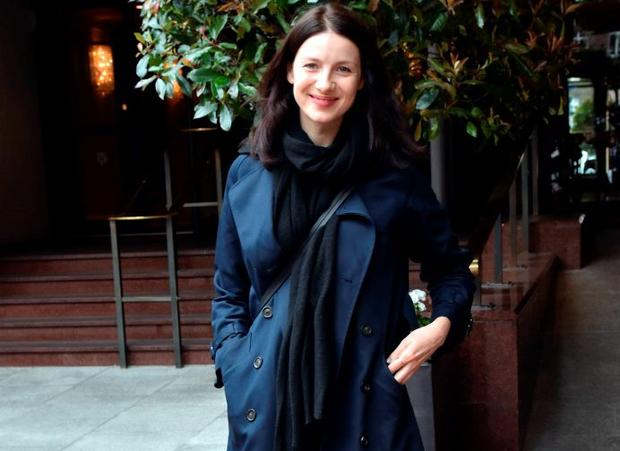 Caitriona Balfe goes makeup free in Dublin