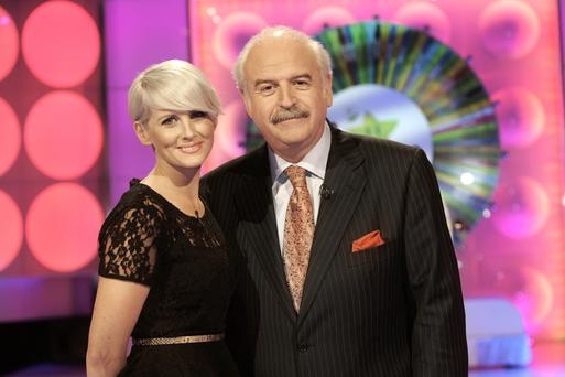 Winning Streak's co-hosts Sinead Kennedy and Marty Whelan