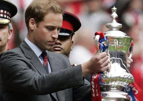 As president of English football's governing body, the Football Association (FA), Prince William will attend the final at Wembley Stadium and present the cup to the winning team.
