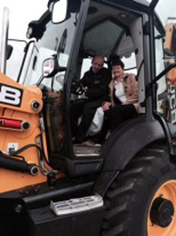 Paul Deaton's visit to ECI JCB Headquarters in Dublin