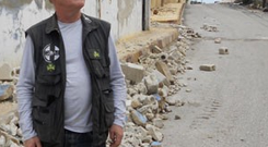 David Adams, an aid worker with Goal, in Syria