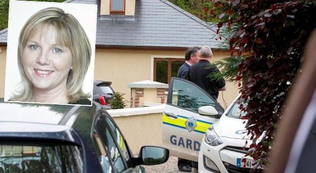 Eileen Whelan and, inset, the house at the centre of the robbery