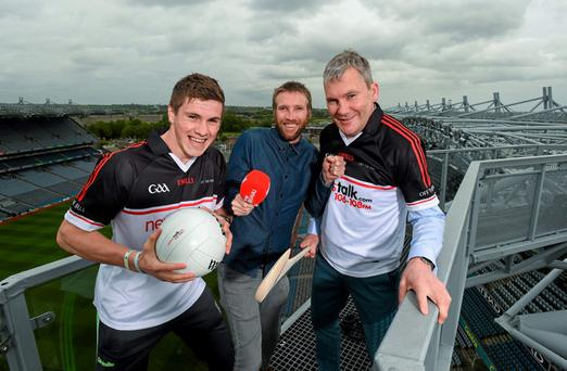 27 May 2015; Newstalk 106-108 FM's Off the Ball team was in Croke Park today with Galway footballer Shane Walsh, Down footballer Marty Clarke and former Mayo football manager James Horan to officially launch their coverage of the 2015 GAA All-Ireland Senior Championships.