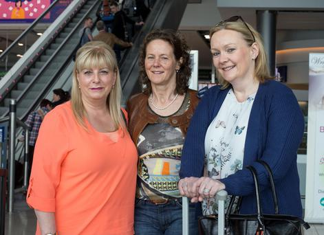"Colleagues Una Ayers, Jo Breheny and Lizanne Sullivan were at Dublin Airport to catch an Aer Lingus flight for a business trip. Airport. Una said the airline is ""synonymous with Ireland"", so she would like the shamrock to remain part of the brand's identity"