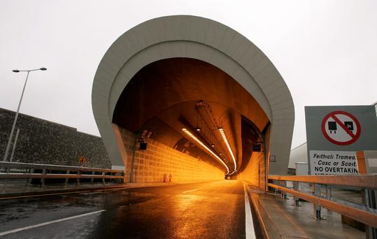 The Dublin Port Tunnel links the M1 Dublin-Belfast motorway and the M50 to Dublin Port