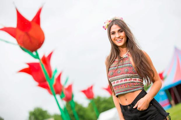 Picture shows Lynn Kelly; at the festival site as Bulmers Forbidden Fruit is back bigger than ever