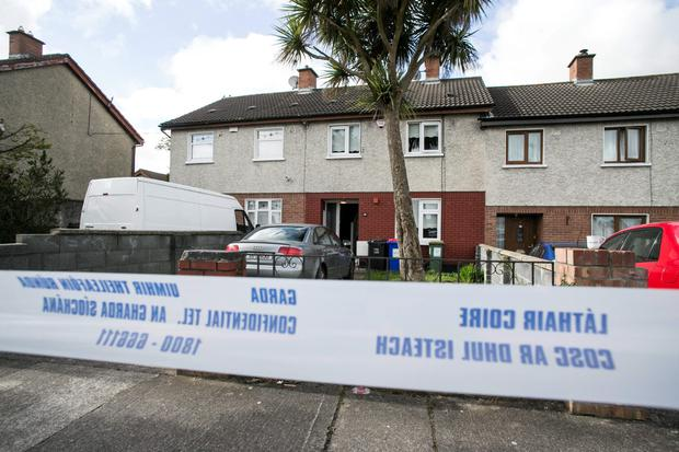 Scene of the Fatal Shooting of a Male at 59 Kiltalown Rd Tallaght