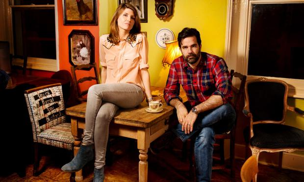 Sharon Horgan and Rob Delaney who have made the Channel 4 comedy Catastrophe together