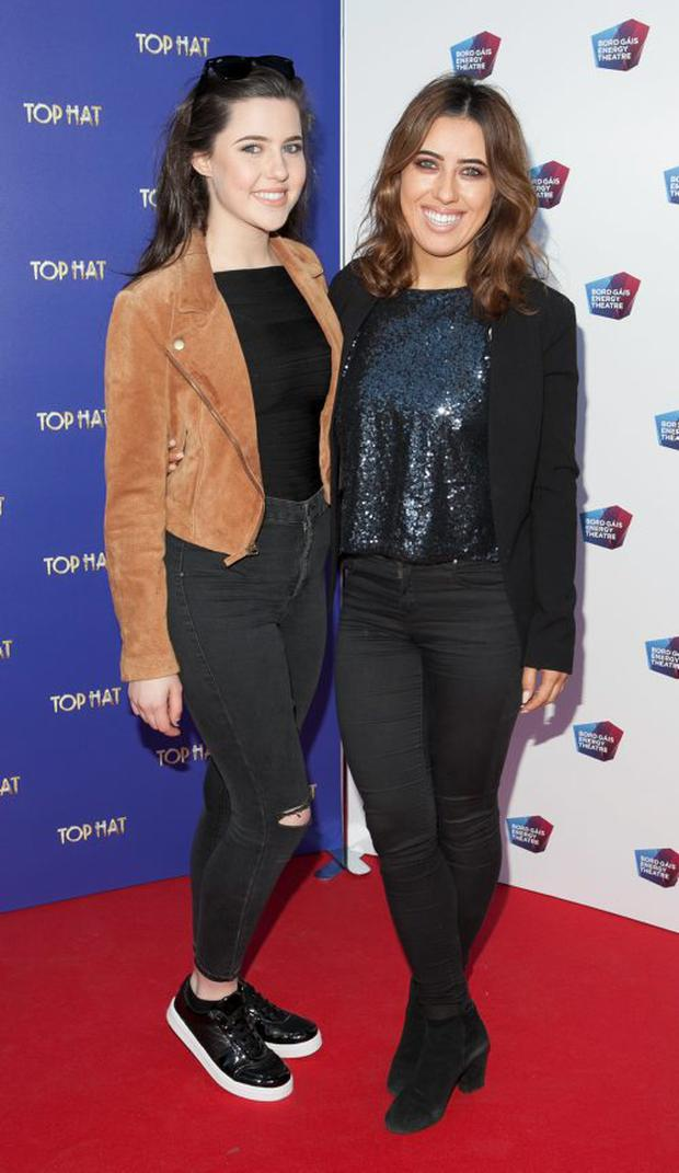 Bonnie Ryan and Lottie Ryan at the opening night of Top Hat at The Bord Gais Enegy Theatre,Dublin. Picture Brian McEvoy