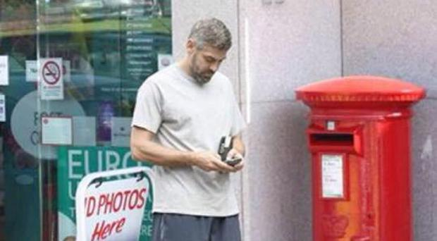 This photo of George Clooney in Newcastle, Co Down looks remarkably like a photo of him taken eight years ago