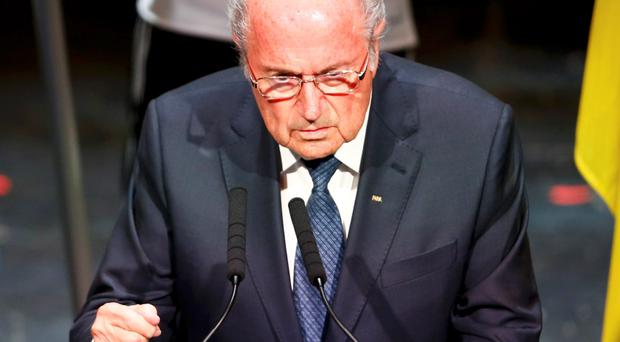 FIFA President Sepp Blatter makes a speech during the opening ceremony of the 65th FIFA Congress in Zurich