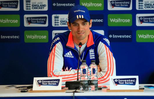 Alastair Cook speaks at his press conference at Headingley, Leeds on Thursday (Mike Egerton/PA Wire)