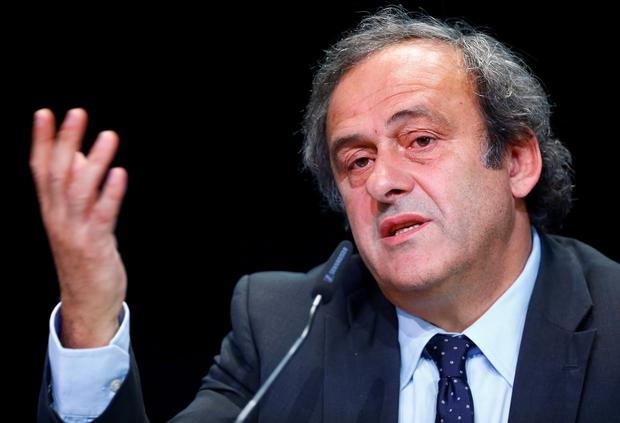 Michel Platini said Uefa's 54 member countries had not ruled out a boycott of future Fifa tournaments (REUTERS/Ruben Sprich)