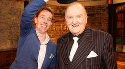 Ryan Tubridy and George Hook ahead of tonight's Late Late Show
