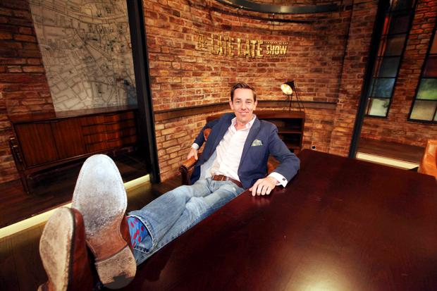 28/05/15 To mark the season finale of the Late Late Show, presenter Ryan Tubridy pictured as The Late Late Show goes In The Mood For Dancing... Pic Stephen Collins/Collins Photos