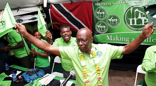 Jack Warner seemed healthy at a political rally on Thursday night