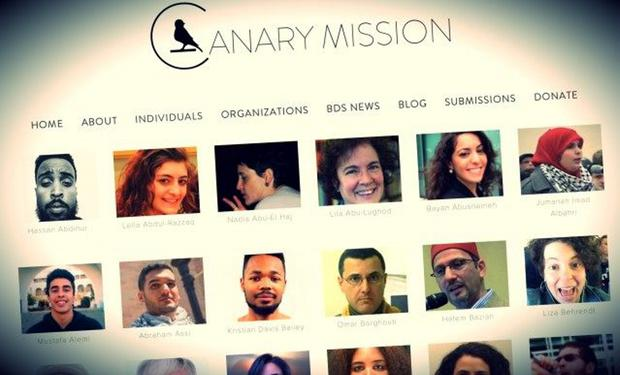 The Canary Mission site seeks to 'expose anti-American activities'