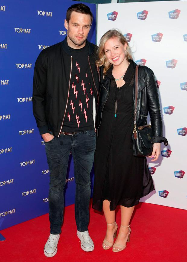 Niall Breslin aka Bressie and sister Andrea Breslin at the opening night of Top Hat at The Bord Gais Energy Theatre,Dublin
