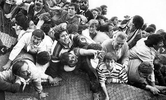 Fans cry for help in Heysel