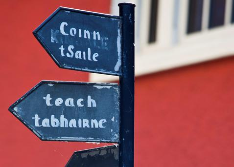 A signpost in Timoleague, County Cork