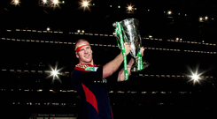 Munster's Paul O'Connell celebrates with the 2008 Heineken Cup Final win against Toulouse at the Millennium Stadium, Cardiff,