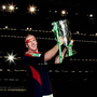 24 May 2008; Munster's Paul O'Connell celebrates with the Heineken Cup. Heineken Cup Final, Munster v Toulouse, Millennium Stadium, Cardiff, Wales. Picture credit: Oliver McVeigh / SPORTSFILE