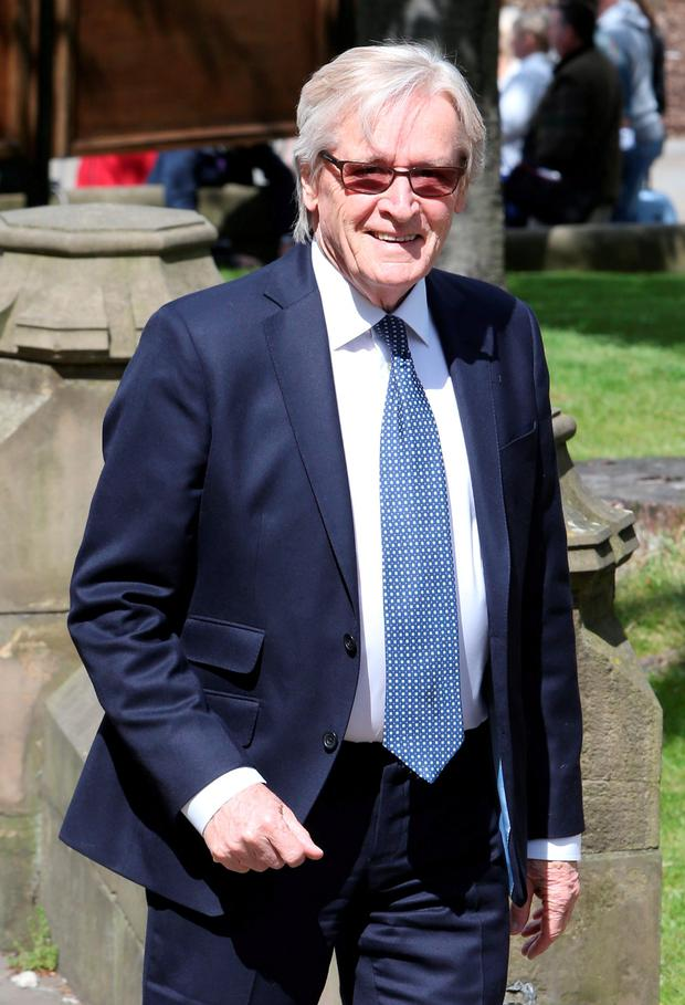 William Roache arriving for the memorial service for Coronation Street star Anne Kirkbride at Manchester Cathedral.