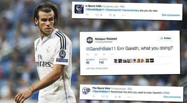 Wind up: Spurs fans are going crazy over a Gareth Bale tweet