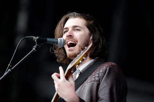 30/5/15 Hozier pictured at Slane Castle in Co Meath. Picture: Arthur Carron