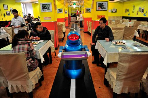 MALTHUSIAN PROMISE: As technological solutions are increasingly sought for nutritional problems, robotic help will be at a premium — in food creation and also in serving