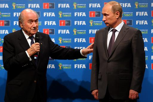 'The stances of Sepp Blatter and Vladimir Putin appear indivisible'