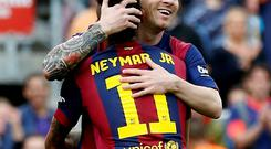 The additions of Suarez and Neymar to complement Messi allowed Barcelona a more direct style