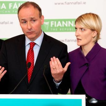 DIDN'T SEE IT COMING: Fianna Fail leader Micheal Martin with Senator Averil Power, whose decision to quit last week shook the party just as it was celebrating its first by-election win in 19 years