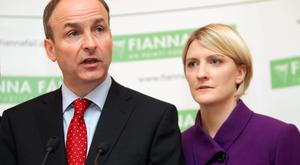 A media mob attacked Micheal Martin in support of Senator Averil Power(Niall Carson/PA Wire)