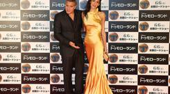 The intense media scrutiny that comes with being George Clooney's wife has been blamed for Amal's thinness, which has only increased since her marriage (AP Photo/Koji Sasahara)