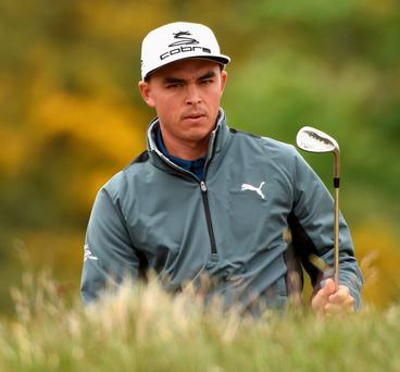 Rickie Fowler suffered a sickening eight, eight finish