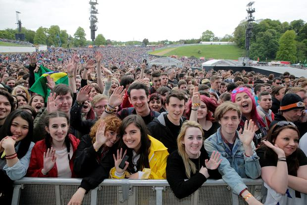 Concert goers pictured at Slane Castle in Co Meath. Picture: Arthur Carron