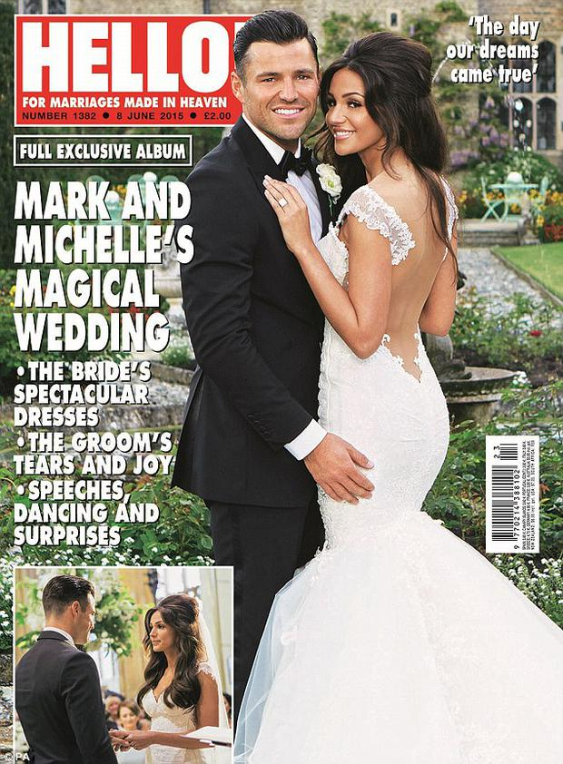 Mark and Michelle on the cover of Hello!