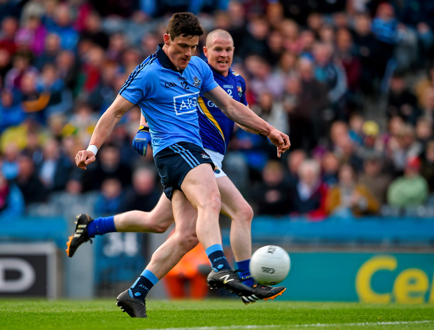 Diarmuid Connolly scores the first Dublin goal.