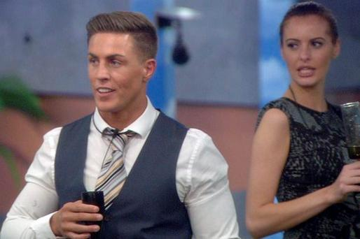 Marc O'Neill and Jade Martina Lynch as Marc arrived in the Big Brother house