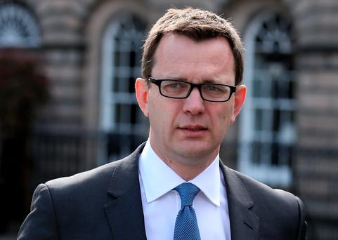 Andy Coulson arrives at the High Court in Edinburgh, where he is on trial accused of lying under oath in the 2010 perjury trial of ex-Socialist MSP Tommy Sheridan. PRESS ASSOCIATION Photo. Picture date: Monday June 1, 2015. See PA story COURTS Coulson. Photo credit should read: Andrew Milligan/PA Wire