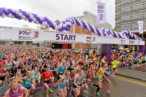 1 June 2015; A general view of the start of the Vhi Womens Mini Marathon. Baggot Street, Dublin. Picture credit: Brendan Moran / SPORTSFILE